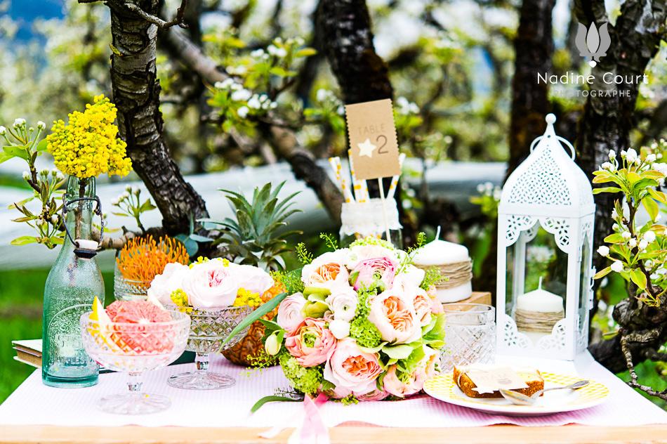 Shooting inspiration champ tre for Decoration de table champetre