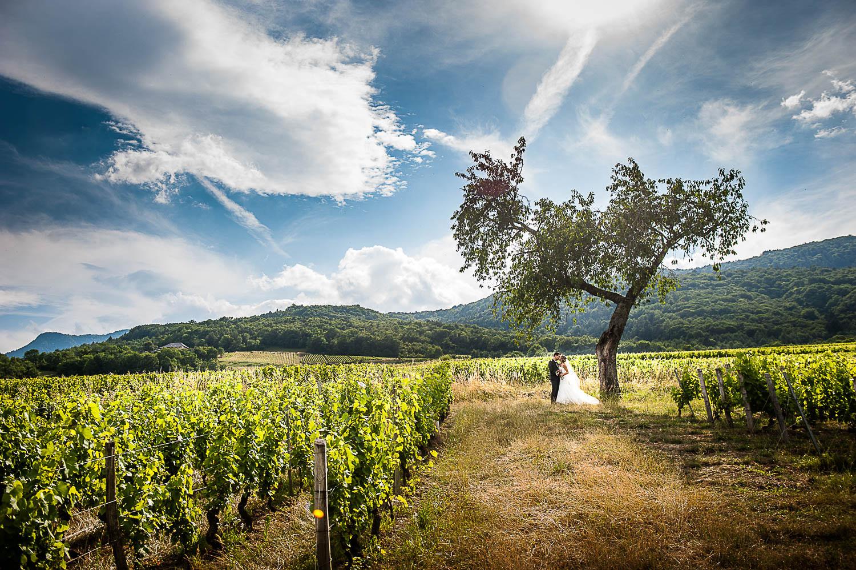 Mariage en Savoie dans les vignes – Apremont