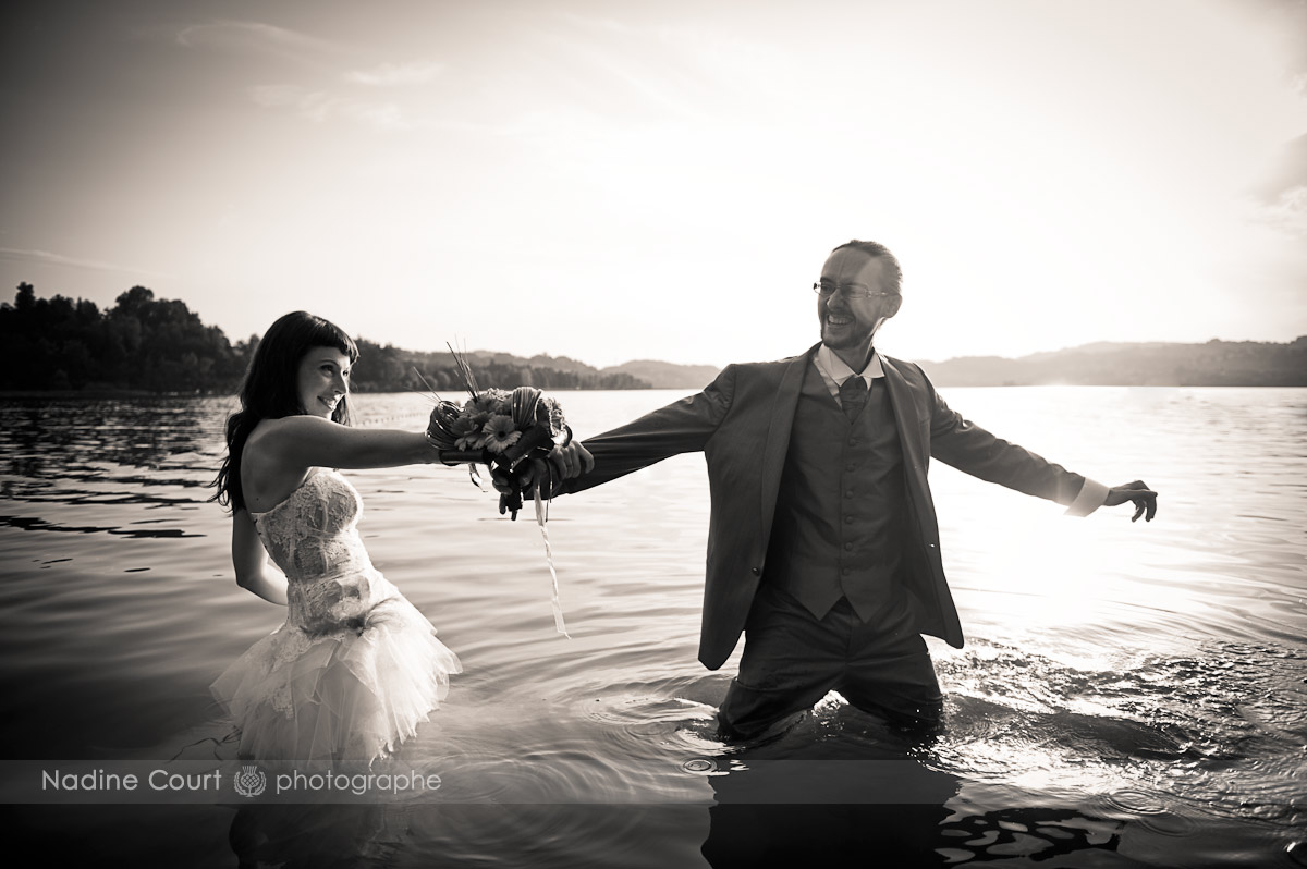 Séance Trash the Dress au lac d'Aiguebelette