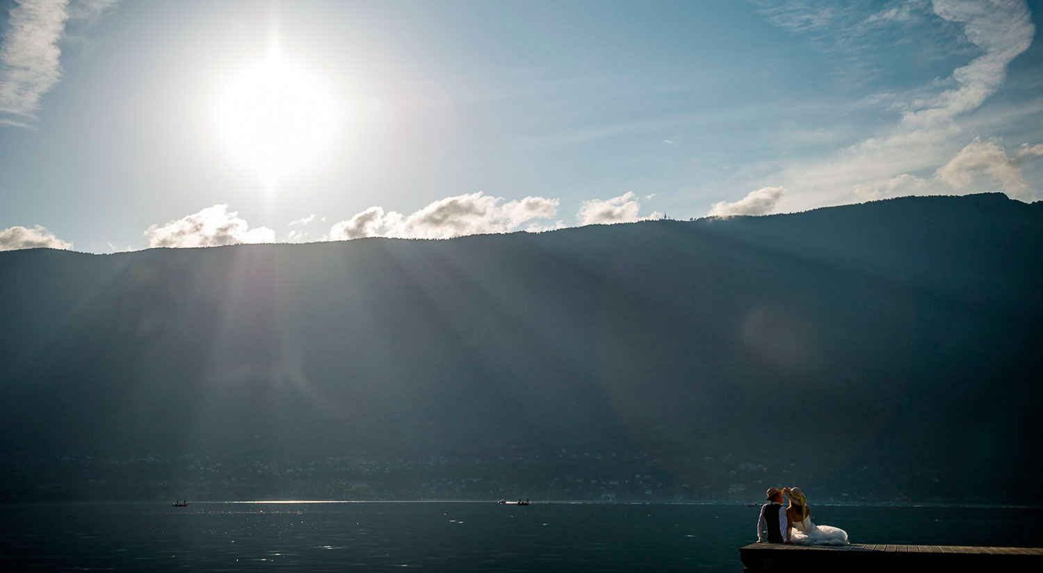 Trash the dress au lac du Bourget : Charlotte et Nicolas